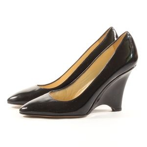 Kate Spade Women's Black Patent Leather Heels 6